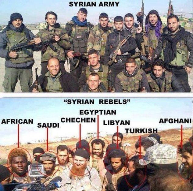 "Syrian Army vs. ""Syrian Rebels"""