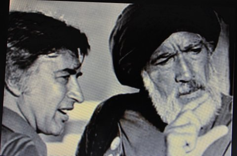 The martyred Mustapha al Akkad [r.], with the late Anthony Quinn.
