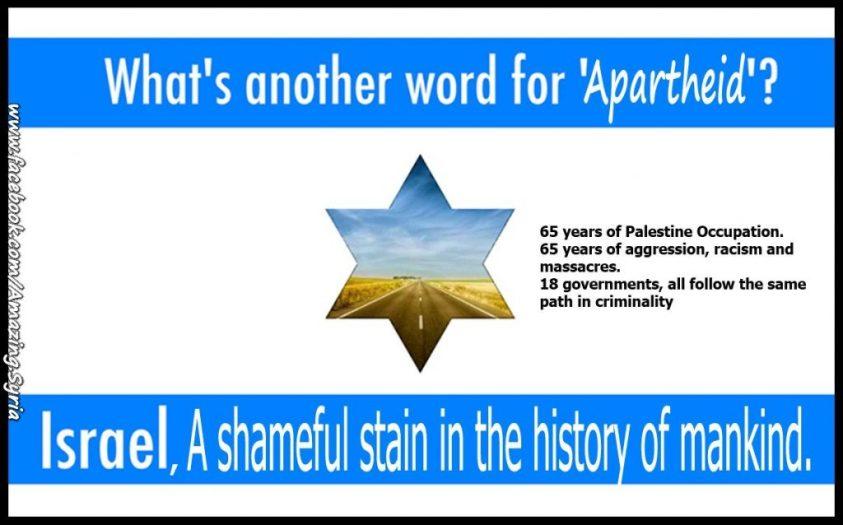 Israeli Flag Apartheid