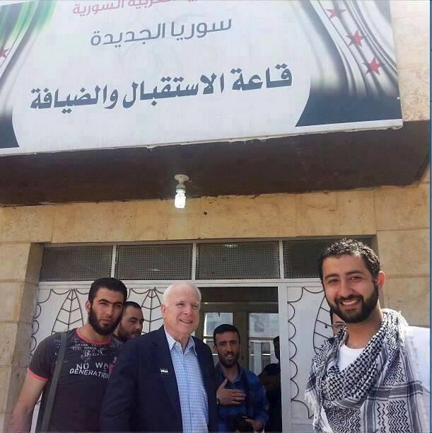 Illagal alien McCain. Syria terrorists