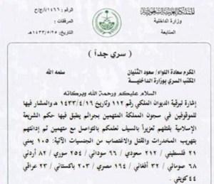 Saudistan death row release