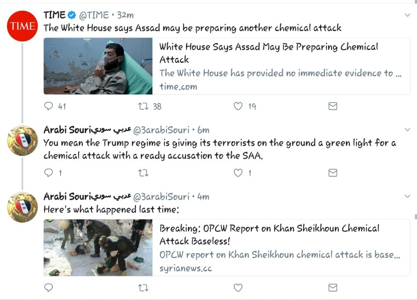 image-White House Gives Al-Qaeda Green Light for a New Chemical Attack in Syria