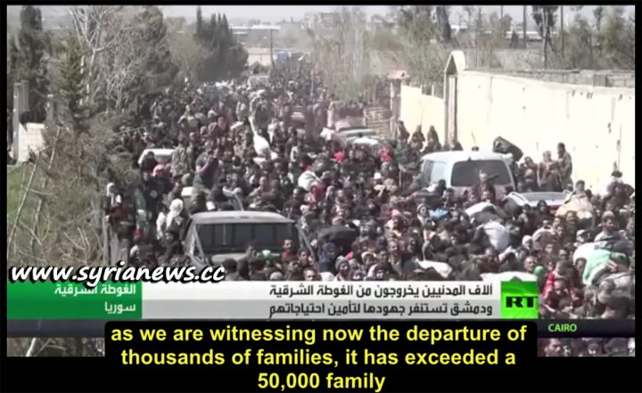 image-Hamoriyah Crossing Witnessed the Departure of Thousands of Families from East Ghouta