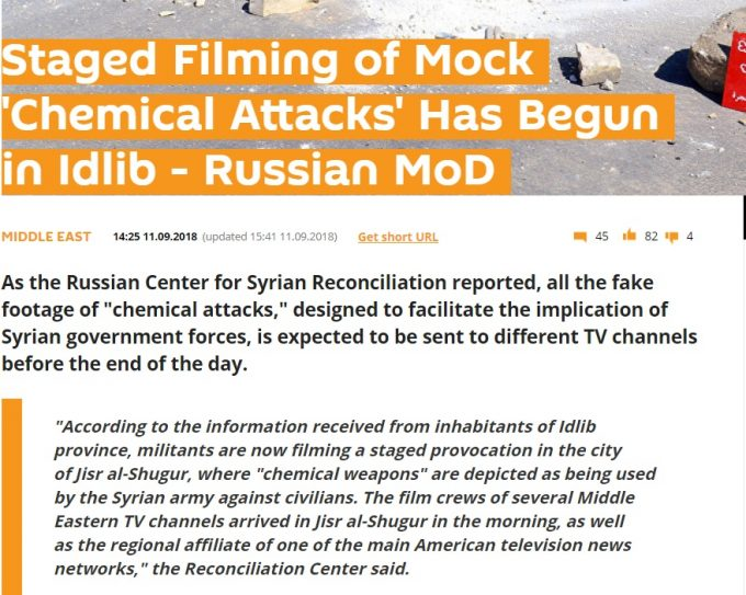 Terrorists Film Fake Chemical Weapons Attack in Idlib