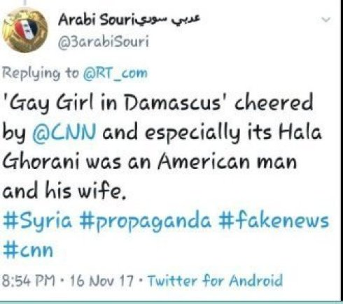 Arabi Souri Hala Gorani CNN Gay Girl in Damascus