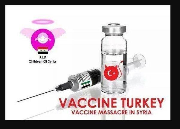 vaccine turkey - syria children