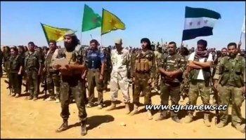 Kurdish SDF Separtist Militia with FSA Terrorists - Raqqa - Deir Ezzor - Aleppo - Idlib - Hassakah - Qamishli - USA - ISIS - Nusra Front