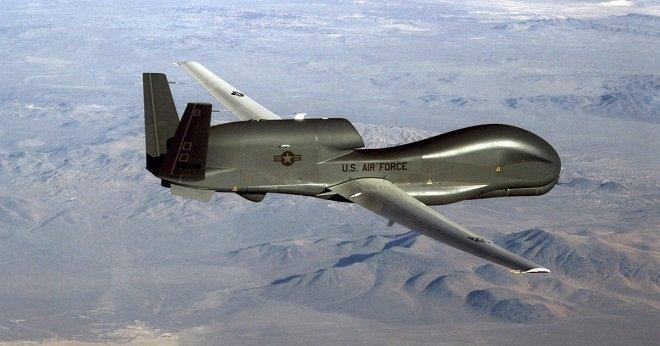 U.S. surveillance RQ-4A Global Hawk High-Altitude drone
