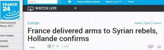France armed terrorists in Syria, now concerned about Taliban terrorists