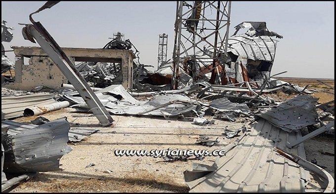 Nusra Front terrorists blow up grain silos in Tal Al-Sakhr Idlib Countryside