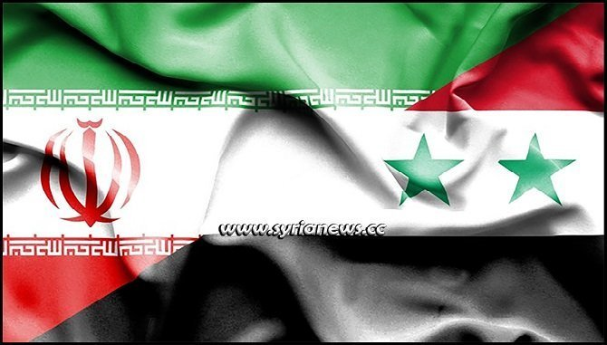 Syria and Iran Flags