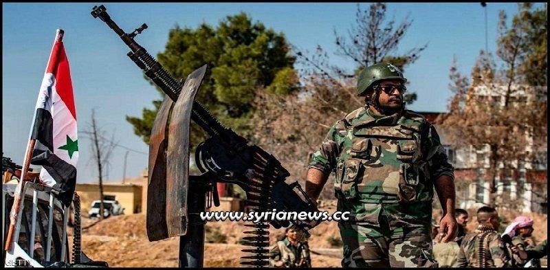 SAA Syrian Arab Army deploys in Ayn Al Arab Kobani at Turkish Borders