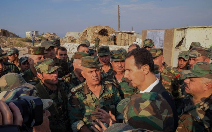 Assad in Idlib