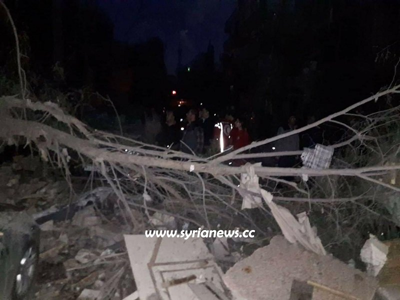bombing in Damascus Mazzeh November 12, 2019