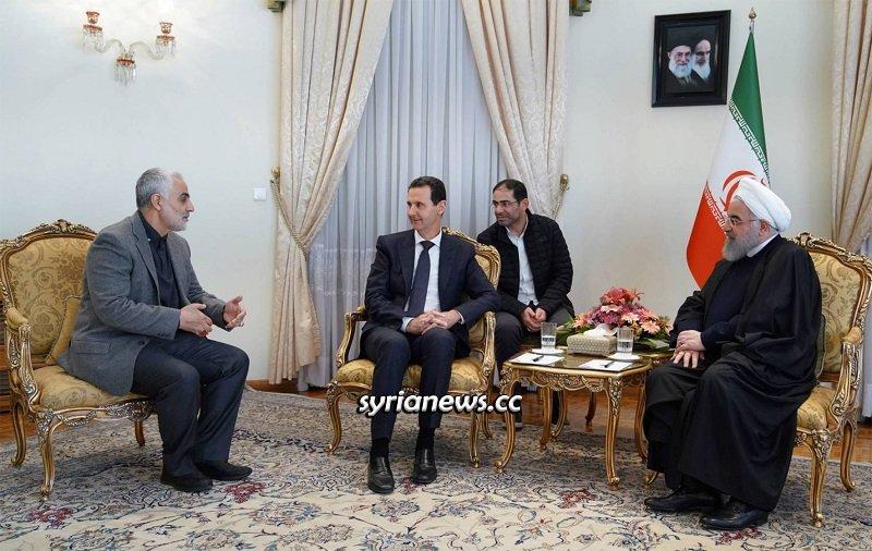 Syrian President Assad sends condolences for the martyrdom of IRGC Qasem Soleiman to Iranian leaders