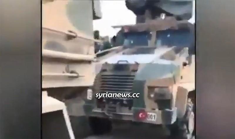 Turkish Army Column heading to aid al-Qaeda in Idlib hit by the SAA - dozens of Turkish soldiers killed