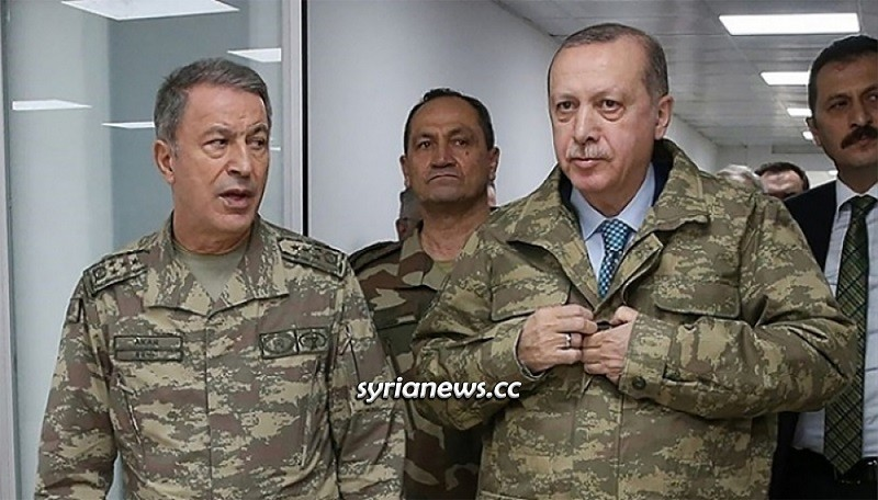 Turkish pariah erdogan with his war minister