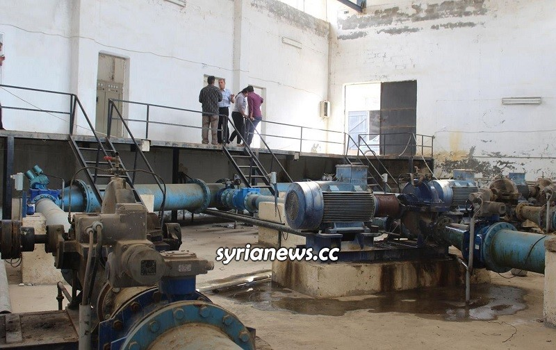Alouk water pumping station Hasakah Syria
