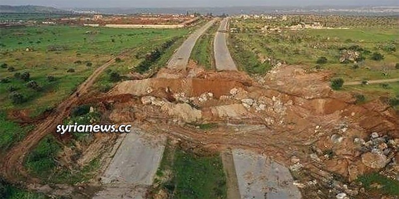 M4 Artery sabotaged by al-Qaeda's moderate terrorists to block Russian-Turkish joint patrols as articulated by the Moscow agreement Erdogan obliged himself to.