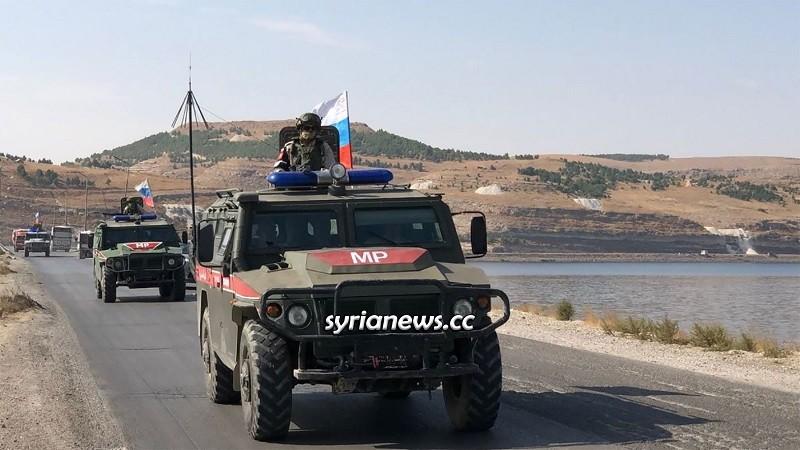 Russian Military Police in Saraqib, Idlib
