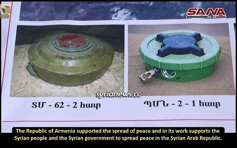 Armenian humanitarian mission demine farms in Aleppo countryside