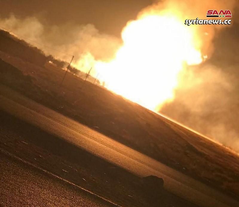 Gas pipeline explosion - Syria Damascus countryside - terror