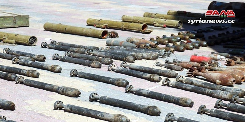 ISIS weaposn and munition found by SAA near Deir Ezzor