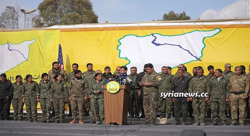 Kurdish SDF separatist armed militia - Syria