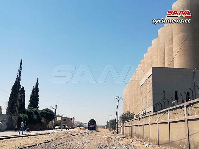Syria Railways Tartous - Damascus First Train Arrives at Damascus