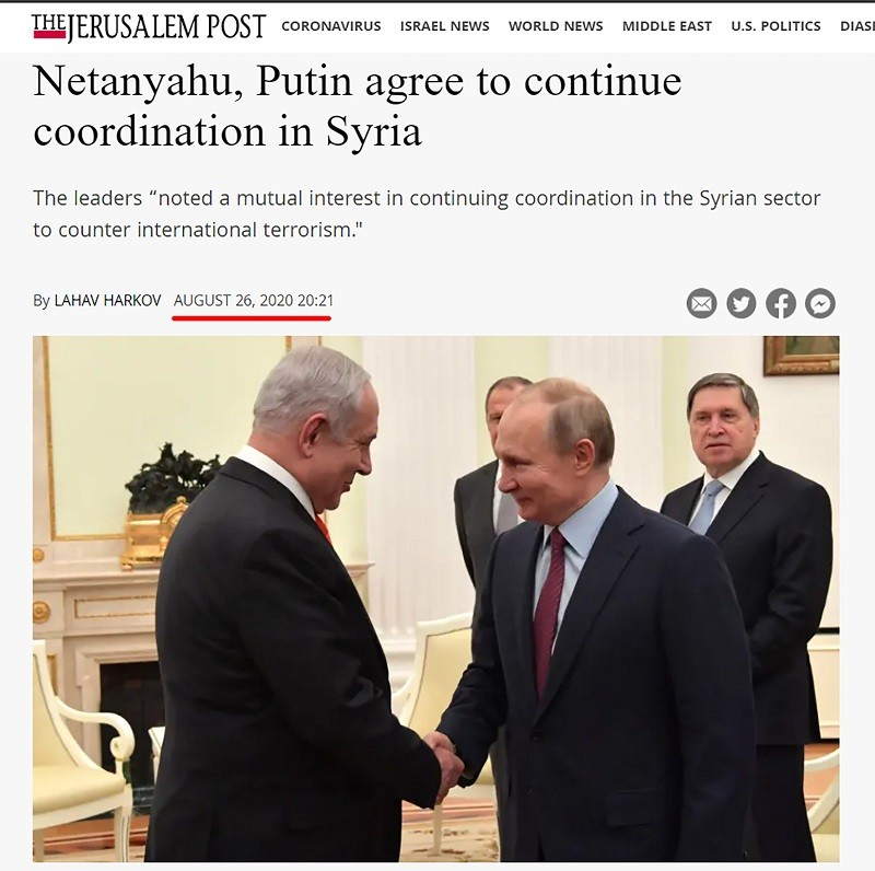 Israel Netanyahu and Russia Putin agree to renew coordinating over Syria