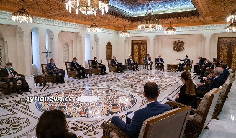 Russian Delegation in Damascus Meet President Assad