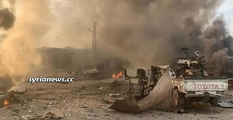 Tal Halaf Ras Al Ayn Hasakah Syria car explosion