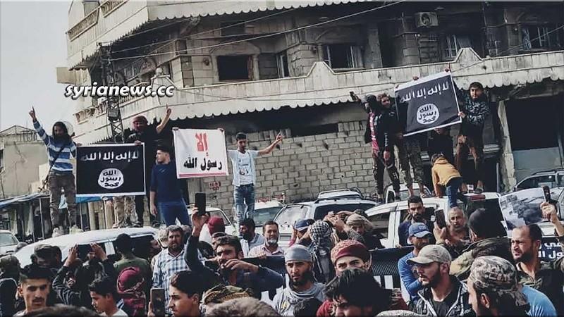 ISIS terrorists in Ras Al Ain north Syria again with Erdogan help
