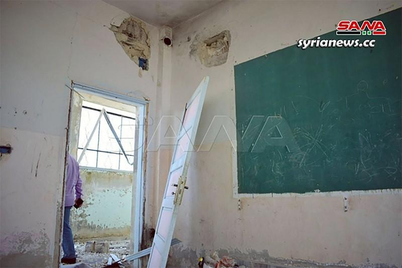 Israel bombed an elementary school in Quneitra sothwest of Syria