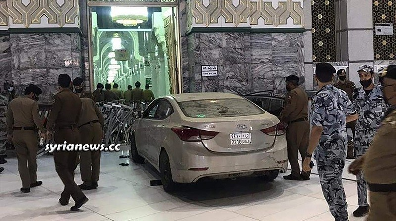 Saudi driver rammed his car into Gate 89 of Masjid Haram - Mecca