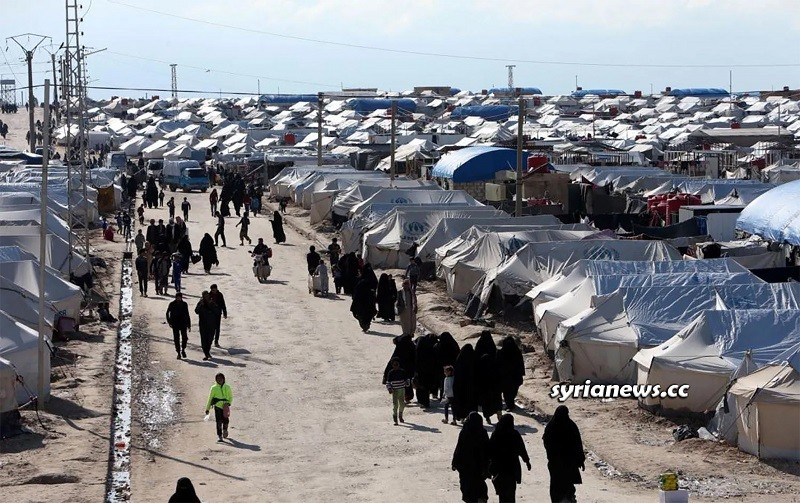 Al Hol (Hawl) concentration camp for Syrian refugees in Hasakah
