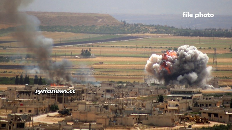Landmine explosion in Syria - file photo