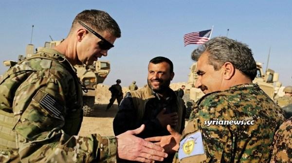 Kurdish SDF separatists with US army - Biden Trump Obama Israel