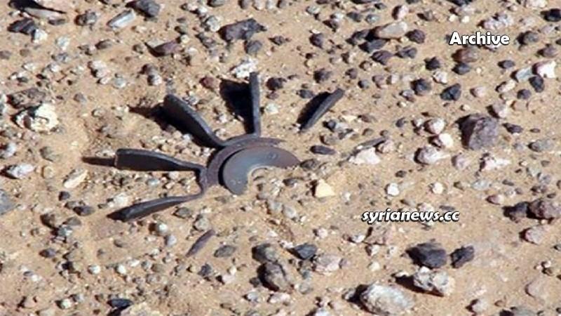 Landmine explosion in Syria - Archive photo - انفجار لغم أرضي سورية