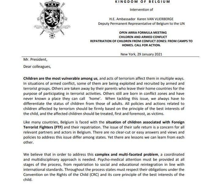 Belgium issued a two-page letter filled with arrogant hypocrisy - UNSC Syria