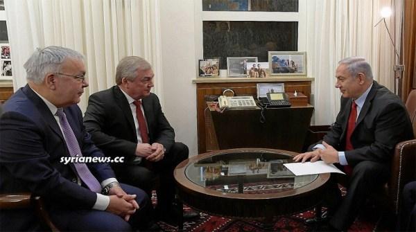 Russia Envoy to Syria Lavrentiev with Israel War Criminal Netanyahu