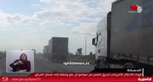 Biden forces stealing Syrian wheat from Hasakah into Iraq