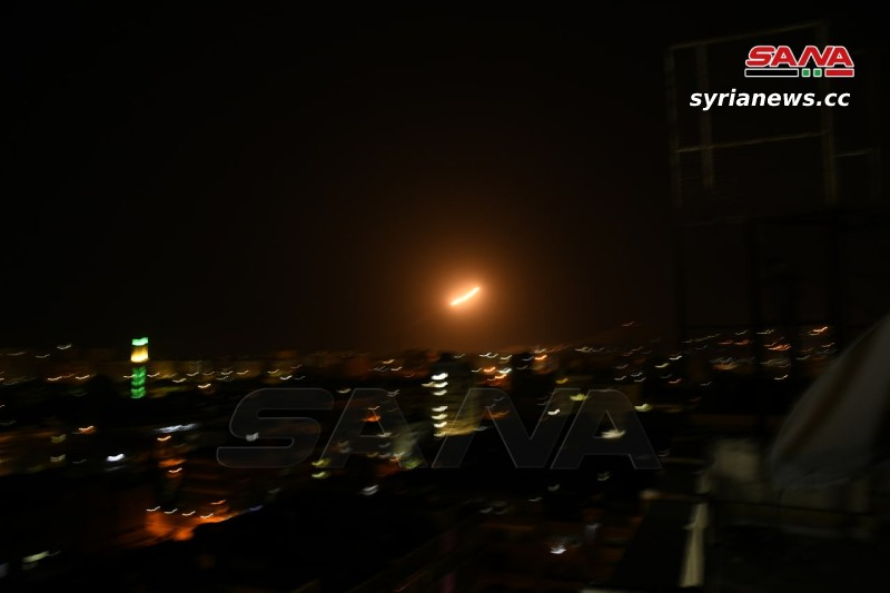 Israel bombing against Damascus from over the Golan and Lebanon