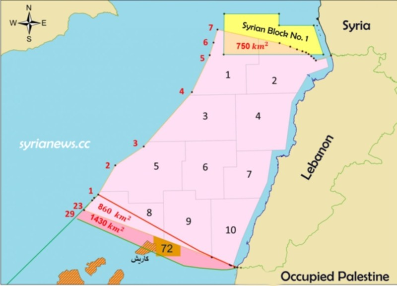 Lebanon wants Syria's gas block in the Mediterranean