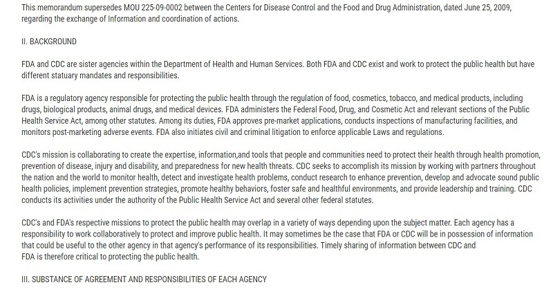 VAERS part of FDA and CDC pledge to protect the public health.
