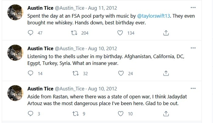 Austin Tice got roofied at his best birthday ever.