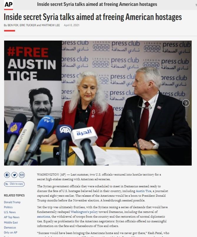 NATO media reporting on secret meeting involving Austin Tice.