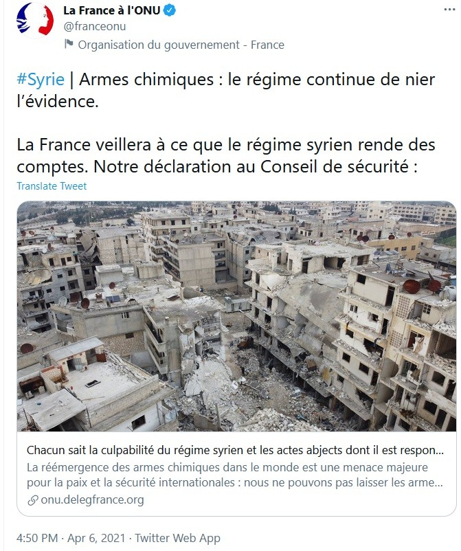 France continues to threaten Syria over chemical weapons.