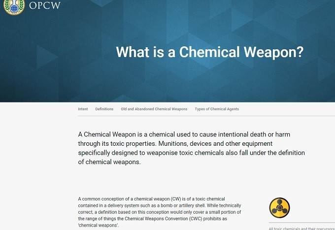 OPCW chemical weapons definition