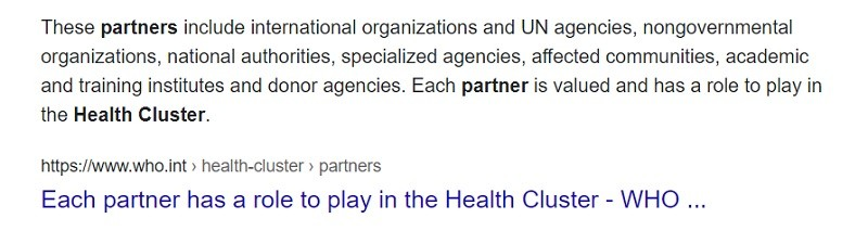 Who are WHO's 'cluster partners in Syria, the chemical weapons liars?